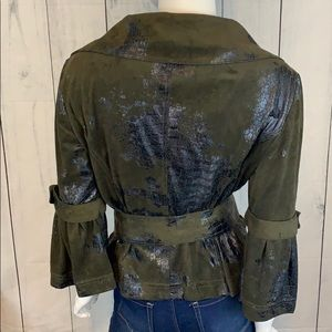 Cartise Jackets & Coats - Cartise Ultra Faux Suede & Reptile Belted Jacket